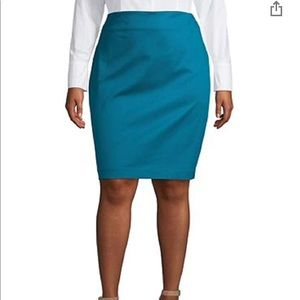 Lord & Taylor Dragonfly Teal 14W Skirt